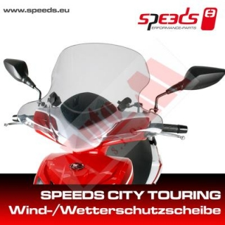 Plexi štít SPEEDS CITY TOURING s montážní sadou